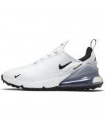 Nike Air Max 270 G Golf Shoes - White/Black/Platinum